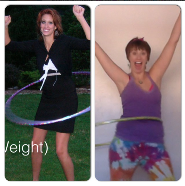 Blake before and after anorexia hula hoop